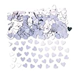 CAN_Deal Silver Heart Table Confetti Wedding Engagement Anniversary Party Decorations