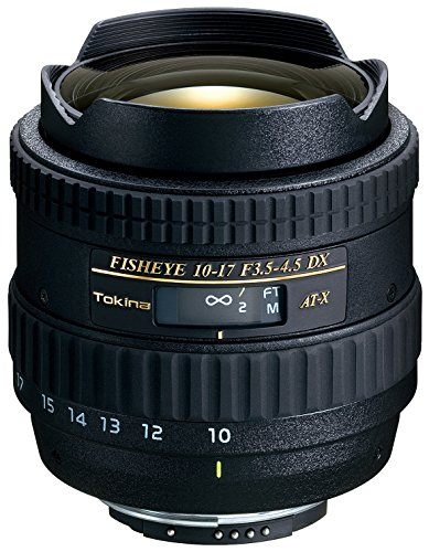 Tokina AT-X 10-17mm F3.5-4.5 DX Fisheye Lens -  Nikon AF Mount