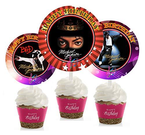Jahrestag Geburtstag Party inspiriert Picks, Cupcake Picks, Cupcake Topper # 1 ()