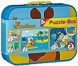 Schmidt Spiele 55597 - Puzzle Maus im Metallkoffer 2 x 26 Teile, 2 x 48 Teile -