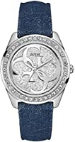Guess W0627L1 - Orologio da polso Da Donna, Pelle, colore: Blu