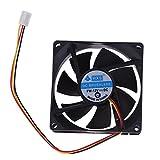 DOMYBEST 3PIN 80 mm 25 mm PC CPU Radiateurs de Ventilateur de Refroidissement Radiateur pour Ordinateur de Bureau (1pc)