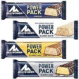 Multipower Power Pack Mix Box Protein Riegel Eiweißriegel mit 27% Protein klassischer Power Bar als gesunder Sport-Snack in 4 leckeren Geschmacksrichtungen, 24x35g (Das Verpackung kann variieren)