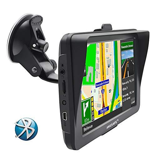 GPS de Voiture de l'écran de résistance 7 Pouces Europe Mise à Jour Gratuite de la Carte(AVCE Bluetooth)