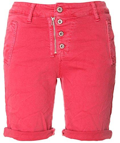 BASIC.de Bermuda-Shorts 4-Knopf mit Reißverschluss Melone XS