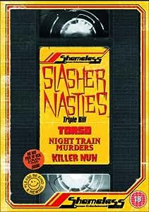Shameless Slasher Nasties Box Set (Killer Nun / Torso / Night Train Murders) [DVD]