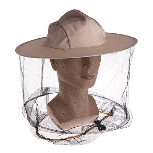 Cuigu Bienenhut - Denim Head Protector Cap - Imkerei Net Hat, verhindern Mücken, für Outdoor-Camping -