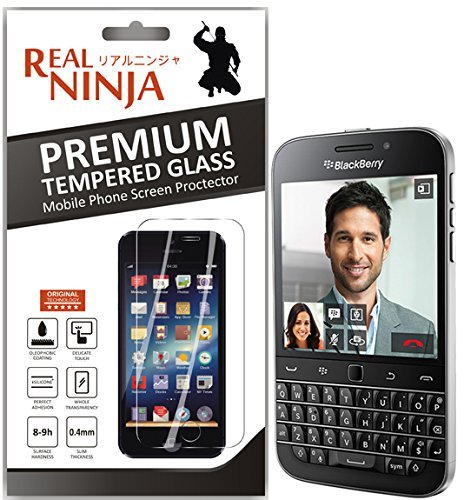 Real Ninja Premium Tempered Glass Screen Protector for BlackBerry Classic Q 20 [Rounded Edges]