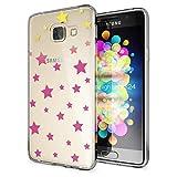 NALIA Handyhülle für Samsung Galaxy A3 2016, Slim Silikon Motiv Case Hülle Cover Crystal Schutzhülle Dünn Durchsichtig Etui Handy-Tasche Backcover Transparent Phone Bumper, Designs:Stars
