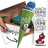 Wunschtext, Wunschname zum Aufbügeln – ideal für Schultüten-/Kissenbezüge, Shirts auch in eigener Handschrift