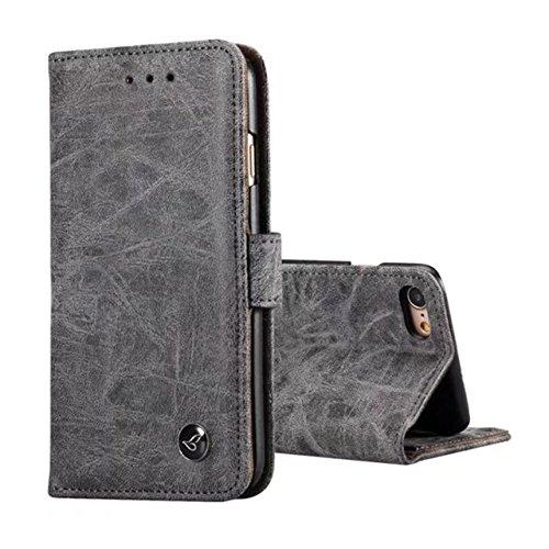 Für OUKITEL K6000 Pro Handyhülle/hülle,PU Schutz erweiterte Handy-Shell,mit Integrierten Kartensteckplätzen und Ständer(Schwarz)