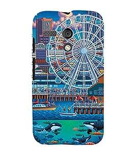 FUSON Ferris Wheel Background Pattern 3D Hard Polycarbonate Designer Back Case Cover for Motorola Moto G :: Motorola Moto G (1st Gen) :: Motorola Moto G Dual