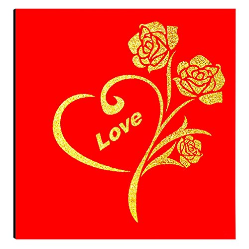 FOOHAO- Albums photo avec des pages collantes, couverture de laque en bois rose, 20 pages (40 côtés), album photo de bricolage Creative Couples (Couleur : Black card)