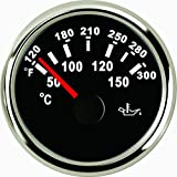 Misuratore di temperatura dell' olio 50-150℃ 52MM 9-32V con retroilluminazione