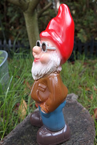 Gartenzwerg Cool Kai aus bruchfestem PVC Zwerg – Made in Germany Figur - 3