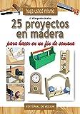 * La construcción de objetos con madera no es algo que esté sólo al alcance de los profesionales: cualquiera, con un mínimo equipamiento y la información que se facilita en este libro, podrá construir los más variados y prácticos objetos en un fin de...