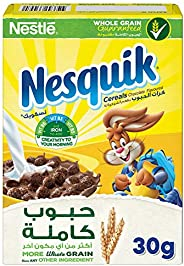 Nestle Nesquik Chocolate Breakfast Cereal, 30g