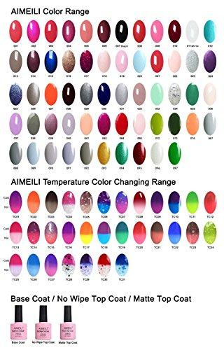AIMEILI Esmalte Semipermanente De Uñas Soak Off UV LED Uñas De Gel Set - Elegir 7 Colores