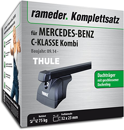 Rameder Komplettsatz, Dachträger SquareBar für Mercedes-Benz C-KLASSE Kombi (121689-12855-1)