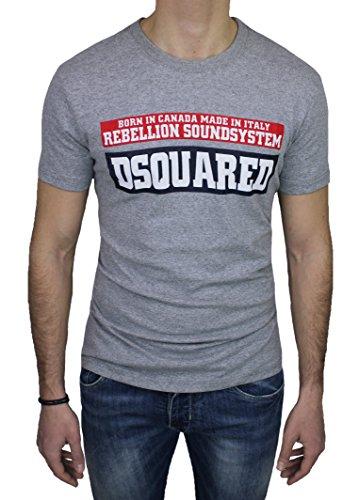 T-Shirt maglia uomo Dsquared 2 grigio girocollo maniche corte original man's shirt (M)