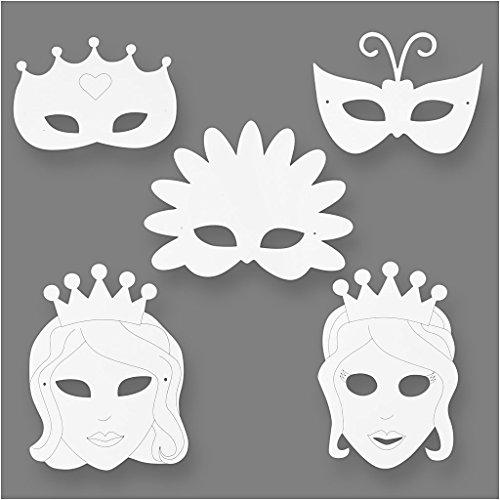 Märchen-Masken, H: 13,5-25 cm, 16sort., 230 (Designs Pappmaché Maske)