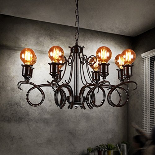 AMOS Industrial Wind Wohnzimmer Restaurant Kreative Eisen Kronleuchter Retro Office Lighting