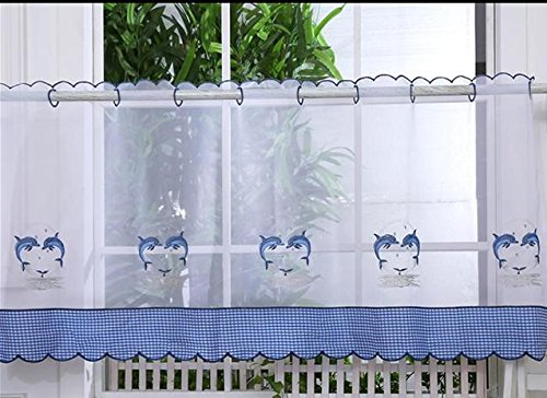 Voile Cafe Net Curtain Panels D27 Dolphins 24 Kitchen Bathroom Curtains Curtains At Home Buy Online In Burkina Faso At Burkinafaso Desertcart Com Productid 70509073