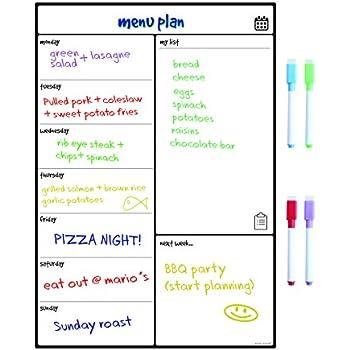 Magnetic White Board Fridge Calendar by Smart Panda - Useful Menu ...