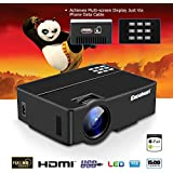 """Excelvan E08 Portable Home Cinema Projector 1500 Lumens With HDMI Multiscreen 100"""" Display"""