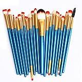 Saingace Make up Pinsel 20 PC Verfassungs-Bürsten-Satz-Tools Make-up Körperpflege -Set Wolle Make-up-Pinsel-Set