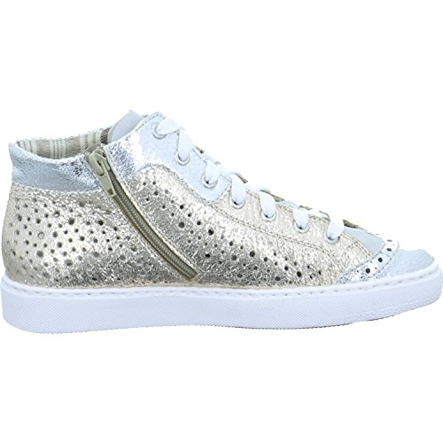 Rieker Damen M79K5 Hohe Sneaker, Weiß (Silber/Fog/Gold), 42 EU