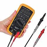 ELEGIANT Mini Multimetro Digitale, MS8233D Multifunzione Professionale DC AC Rilevatore di Tensione Tester Tensione di Misura Dispositivo AC DC Voltmetro Tensione Resistenza Corrente Frequenza Tester