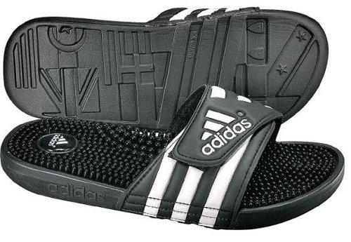 Adidas Adissage 078260 - Chanclas para hombre, color negro, talla 43 1