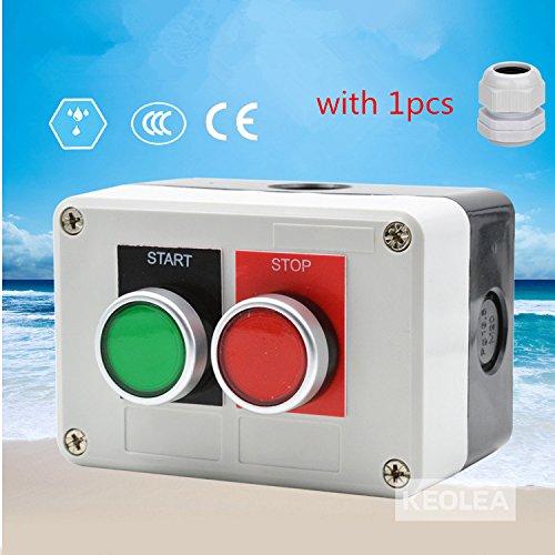 guangshun la38-b-0222mm Start/Stop Taste Schalter Box Control Push Button Switch Button mit Wasserdicht Anschluss - Control-taste 2