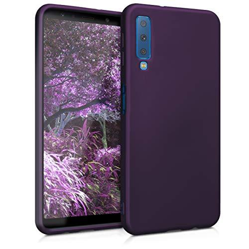 kwmobile Samsung Galaxy A7 (2018) Hülle - Handyhülle für Samsung Galaxy A7 (2018) - Handy Case in Metallic Brombeere