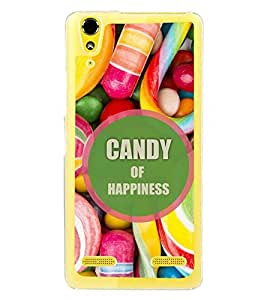 Fuson Premium Candy Of Happiness Metal Printed with Hard Plastic Back Case Cover for Lenovo A6000 Plus