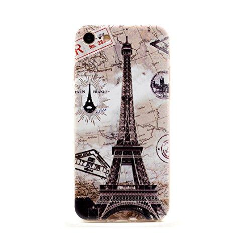 Custodia per iPhone 7 Plus+, Case protettiva in silicone Copertura per iPhone 7 Plus 5.5 , trasparente Cover Shell Soft TPU Bumper- farfalla (7 Plus-TPU-CL) * 2