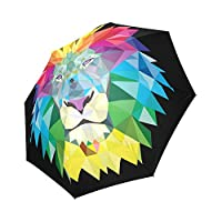 Kitchor Customized Colorful Lion Head Custom Foldable Travel Umbrella