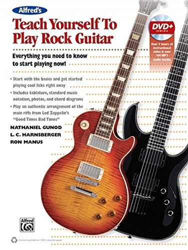 Alfred's Teach Yourself Rock Guitar | Guitar | Book & DVD (Power-bands übung)