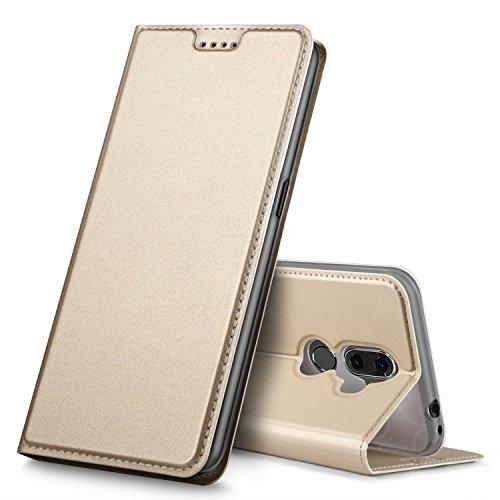 Alcatel 3V Hülle, GeeMai Premium Flip Case Tasche Cover Hüllen mit Magnetverschluss [Standfunktion] Schutzhülle Handyhülle für Alcatel 3V Smartphone, Gold