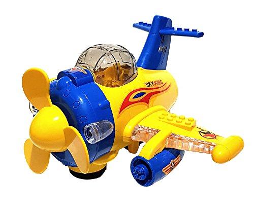 Kinder Spielzeug Verkehrsmodell Flugzeug Air Plane Auto Selbstfahrend LED Licht & Sound Batteriebetrieben NEU (828 Licht)