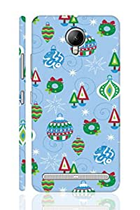 SRS Cartoon Lines & Design 3D Back Cover for Lenovo Vibe C2