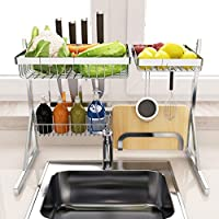 Oksea Abtropfgestell K/üchenutensilien sp/ülen Ablaufkorb N/ützliche Saugnapf Waschbecken Regal Seife Schwamm Rack Kitchen Sucker Storage Tool Beige