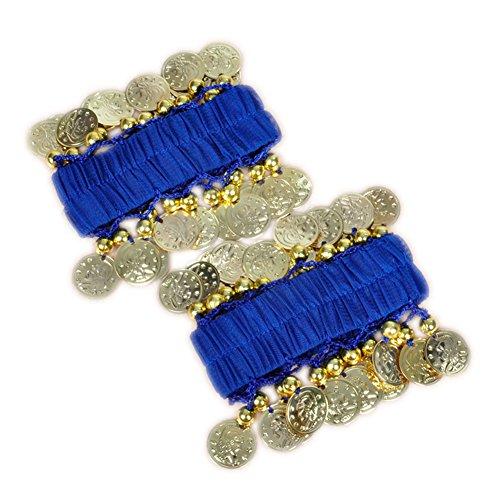 (Koala Superstore 1 Paar Dance Zubehör Bauchtanz Armband Pailletten Münze Armband [Königsblau])