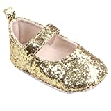 0 UK , Gold : Ularma Toddler Baby Girl Sequins Soft Sole Crib Shoes Sneaker