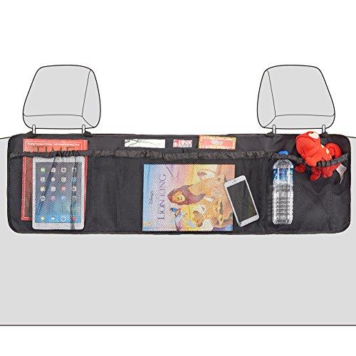 Organizzatore Posteriore Auto, EZOWare Organizer/Protezione/Tappetino Sedile Schienale, per Portaoggetti, Accessori e Giocattoli– Nero
