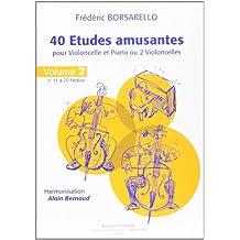 Études Amusantes (40) Vol.2 (11 a 20) - Violoncelle et Piano (Ou 2 Violoncelles)