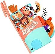 Vicloon Libro de Tela, 1 Pieza Libros Blandos Libro Activity Bebé con Cola, Animales Libros de Tela Bebé Apren