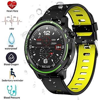 Padgene Smartwatch Reloj Inteligente IP68 Impermeable Bluetooth con Múltiples Deportes, Pulsómetro, Monitor de Sueño, Notificación de Llamada y ...