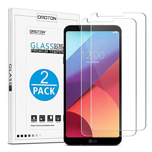 [2 Stück] OMOTON Panzerglas Bildschirmschutzfolie für LG G6/LG G6 Plus, Ultra Transparenz LG G6 Schutzfolie, 9H Härte, Anti-Kratzen, Anti-Öl, Anti-Bläschen